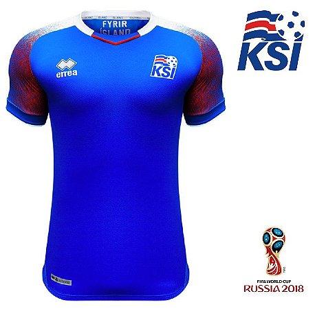 821480863 Camisa Islândia 2018 (Home- uniforme 1) - COPA DO MUNDO - ACERVO DAS ...