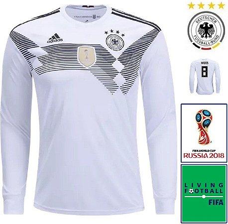 e53ce2263 Camisa Alemanha 2018-19 (Home-Uniforme 1) - Climalite
