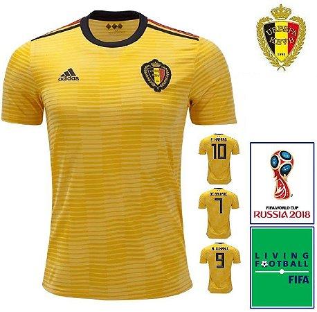 Camisa Bélgica 2018-19 (Away-Uniforme 2) - Climalite