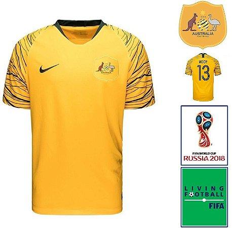 ebe6e2dfc Camisa Austrália 2018-19 (Home-Uniforme 1) -