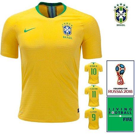 af1c2d73b6 Camisa Brasil 2018-19 (Home-Uniforme 1) -