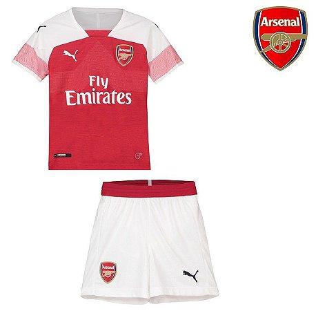 Conjunto Infantil (Camisa + Shorts) Arsenal 2018-19 (Home-Uniforme 1 ... 5e7713b943c98