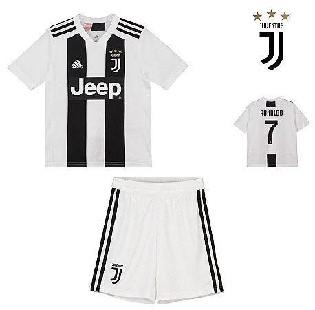 ca0f0d5fe Conjunto Infantil (Camisa + Shorts) Juventus 2018-19 (Home-Uniforme ...
