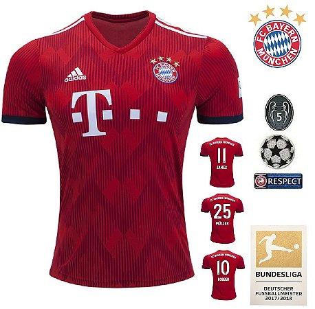 efe3226ff61 Camisa Bayern Munich 2018-19 (Home-Uniforme 1) -