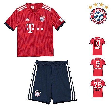 Conjunto Infantil (Camisa + Shorts) Bayern Munich 2018-19 (Home-Uniforme 76dca9fea0808
