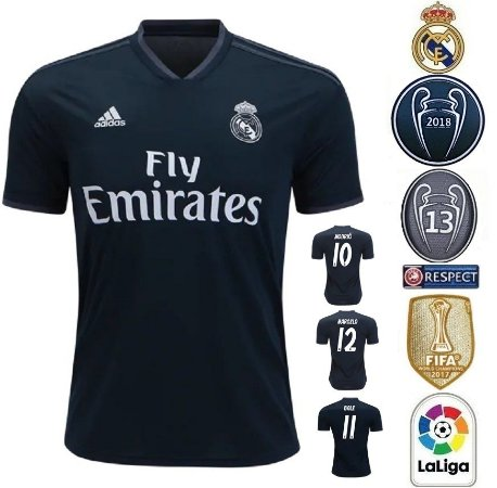 bfcb9cf82c590 Camisa Real Madrid 2018-19 (Away-Uniforme 2) -