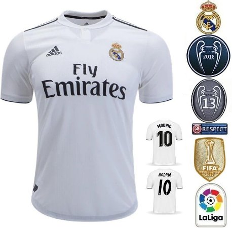 Camisa Real Madrid 2018-19 (Home-Uniforme 1) -