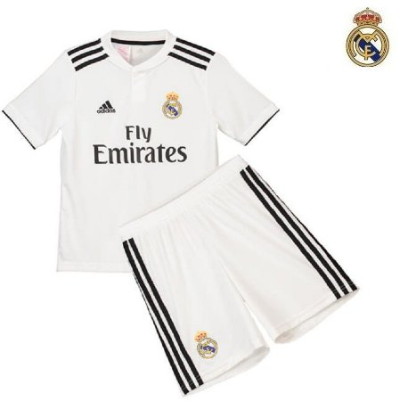 Conjunto Infantil (Camisa + Shorts) Real Madrid 2018-19 (Home-Uniforme 4533a73d070a7