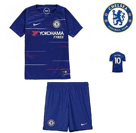 Conjunto Infantil (Camisa + Shorts) Chelsea 2018-19 (Home-Uniforme 1 ... 072e4503693d1