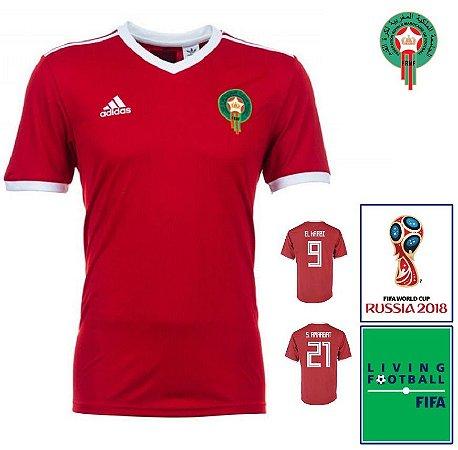 375fb31cc Camisa Marrocos 2018-19 (Home-Uniforme 1) -