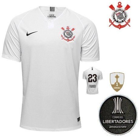 b466be1c060ec Camisa Corinthians 2018-19 (Home-Uniforme 1) -