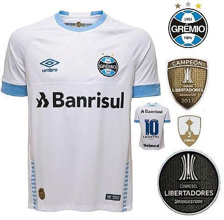 46a0731d1af08 Camisa Grêmio 2018-19 (Away-Uniforme 2) - torcedor - ACERVO DAS CAMISAS