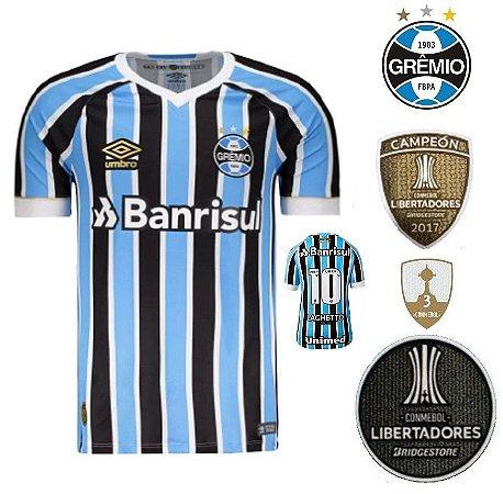 aad2a577c Camisa Grêmio 2018-19 (Home-Uniforme 1) - torcedor - ACERVO DAS CAMISAS