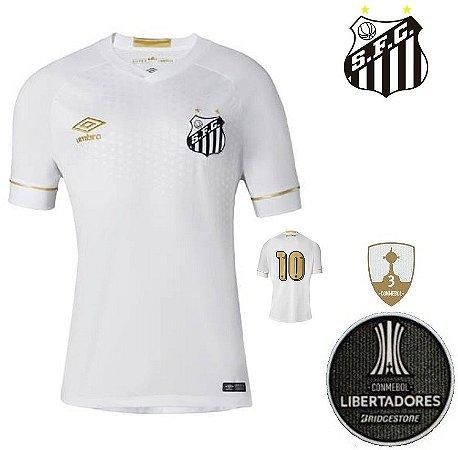 57f60a4388 Camisa Santos 2018-19 (Home-Uniforme 1) - torcedor - ACERVO DAS CAMISAS