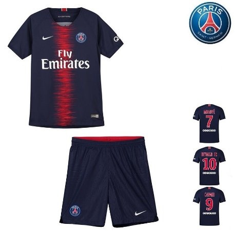 642fa0351 Conjunto Infantil (Camisa + Shorts) Paris Saint Germain
