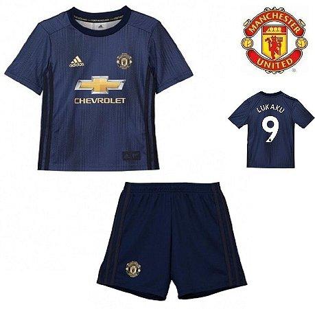 620773fe1 Conjunto Infantil (Camisa + Shorts) Manchester United 2018-19  (Third-Uniforme