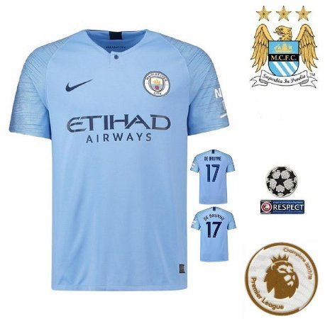 Camisa Manchester City 2018-19 (Home-Uniforme 1) -