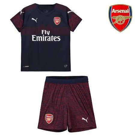 Conjunto Infantil (Camisa + Shorts) Arsenal 2018-19 (Away-Uniforme 2 ... d8567f1269343