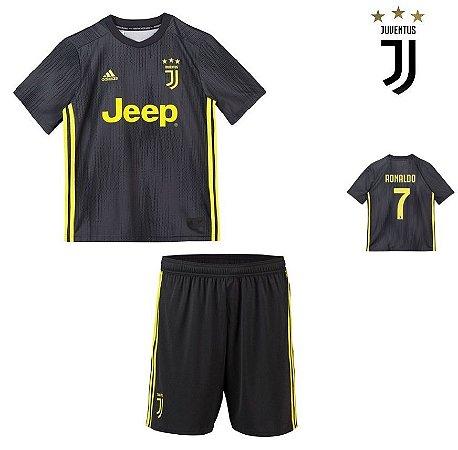 7048a0b91 Conjunto Infantil (Camisa + Shorts) Juventus 2018-19 (Third-Uniforme ...