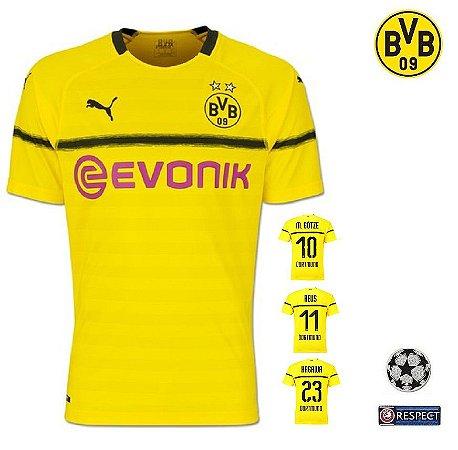 8fd4f83a9f921 Camisa Borussia Dortmund 2018-19 (Copa da Alemanha   UCL Champions League) -