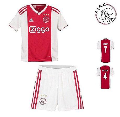 Conjunto Infantil (Camisa + Shorts) Ajax 2018-19 (Home-Uniforme 1 ... 139f8dd5680ce