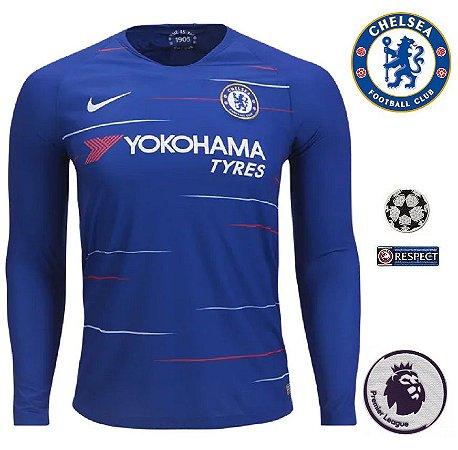 1fa4219916a5b Camisa Chelsea 2018-19 (Home-Uniforme 1) -
