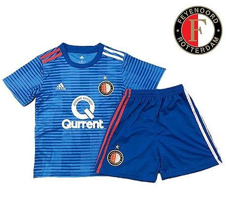 99e6b1f5bf Conjunto Infantil (Camisa + Shorts) Feyenoord 2018-19 (Away-Uniforme ...