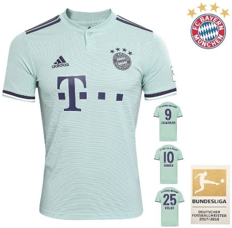 f5f8230c5f0c3 Camisa Bayern Munich 2018-19 (Away-Uniforme 2) -
