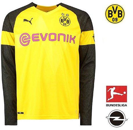 Camisa Borussia Dortmund 2018-19 (Home-Uniforme 1) -