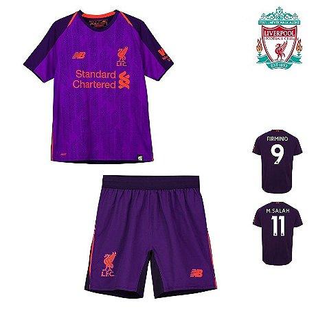 Conjunto Infantil (Camisa + Shorts) Liverpool 2018-19 (Away-Uniforme ... 0a22bb9ce58ca
