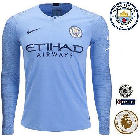 260fed5e38 Camisa Manchester City 2018-19 (Home-Uniforme 1) -