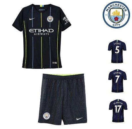 Conjunto Infantil (Camisa + Shorts) Manchester City 2018-19 (Away-Uniforme 93a2930771404