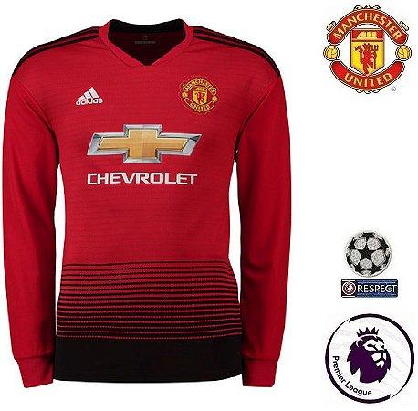 c7899e8e56c98 Camisa Manchester United 2018-19 (Home-Uniforme 1) -