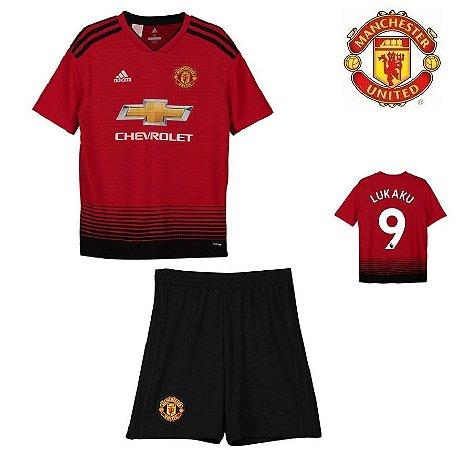 Conjunto Infantil (Camisa + Shorts) Manchester United 2018-19 (Home-Uniforme 89fb0c610bd5c