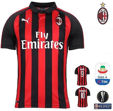 c55cfbafe Camisa Milan 2018-19 (Home-Uniforme 1) -
