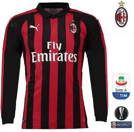 Camisa Milan 2018-19 (Home-Uniforme 1) -