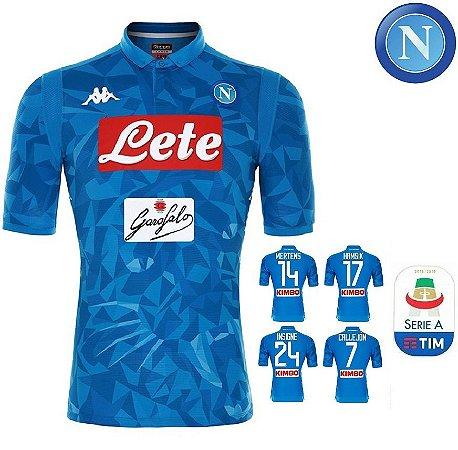 c1320f1939 Camisa Napoli 2018-19 (Home-Uniforme 1) - ACERVO DAS CAMISAS