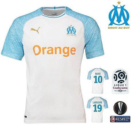 Camisa Olympique Marseille 2018-19 (Home-Uniforme 1) -