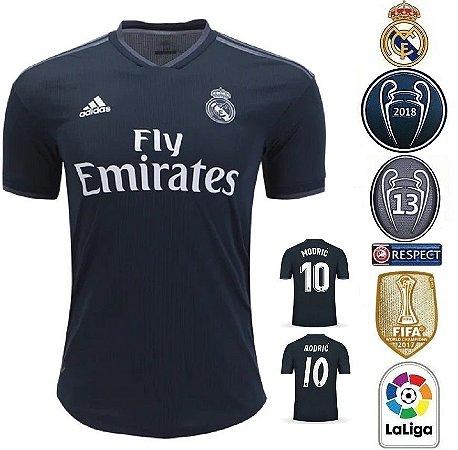 66dfb556a12d6 Camisa Real Madrid 2018-19 (Away-Uniforme 2) -
