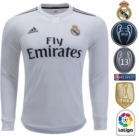 d2820107f Camisa Real Madrid 2018-19 (Home-Uniforme 1) -