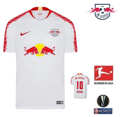 0a102e267d4d0 Camisa RB Leipzig 2018-19 (Home-Uniforme 1) -