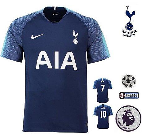 40e48c6c3e43e Camisa Tottenham Hotspur 2018-19 (Away-Uniforme 2) -