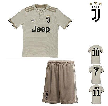 Conjunto Infantil (Camisa + Shorts) Juventus 2018-19 (Away-Uniforme ... a0f043e5751d7