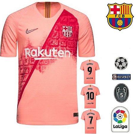 Camisa Barcelona 2018-19 (Third-Uniforme 3) -