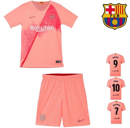 2914519343a30 Conjunto Infantil (Camisa + Shorts) Barcelona 2018-19 (Third-Uniforme 3
