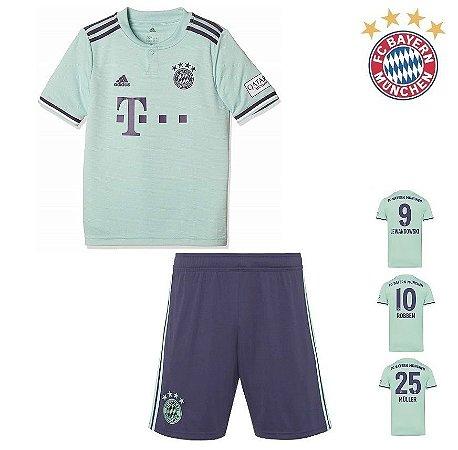 2150aea85 Conjunto Infantil (Camisa + Shorts) Bayern Munich 2018-19 (Away-Uniforme