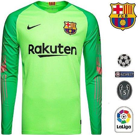 0a8171e81b Camisa Barcelona 2018-19 (Goleiro)- verde -