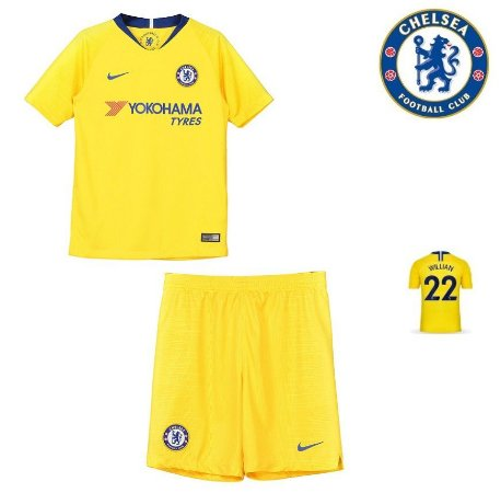 Conjunto Infantil (Camisa + Shorts) Chelsea 2018-19 (Away-Uniforme 2 ... 299bb270fe416