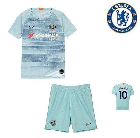 8e17eb5874 Conjunto Infantil (Camisa + Shorts) Chelsea 2018-19 (Third-Uniforme ...