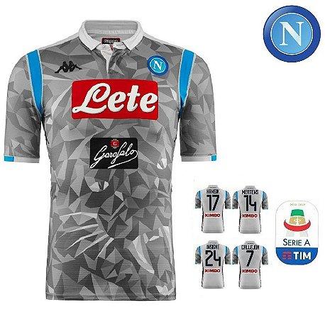 1ac3582291632 Camisa Napoli 2018-19 (Third-Uniforme 3) - ACERVO DAS CAMISAS